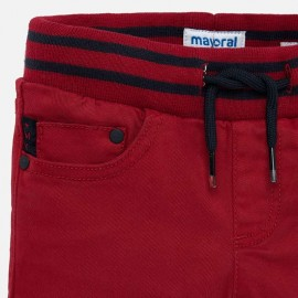 Pantalone costine rosso Mayoral