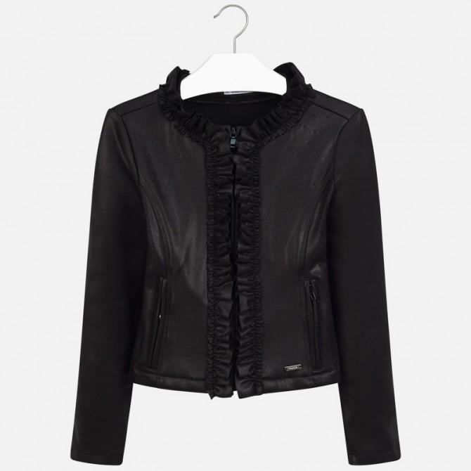 detailed look fda8f be004 giacca giacchina giacchetta maglia aperta in felpa ecopelle ...