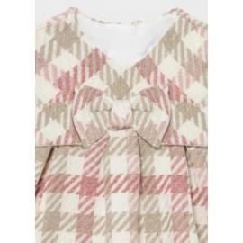 Vestito quadri rosa Mayoral 2817