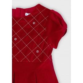 Vestito velluto rosso Mayoral 4912