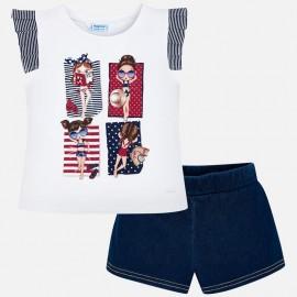Mayoral Completo di pantaloncini da bambina modello 3292