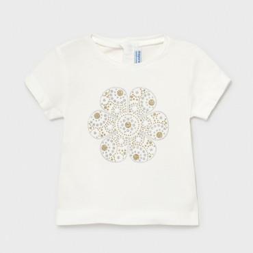 Maglietta fiore oro Mayoral 105