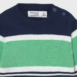 Maglioncino righe verde Mayoral 1333