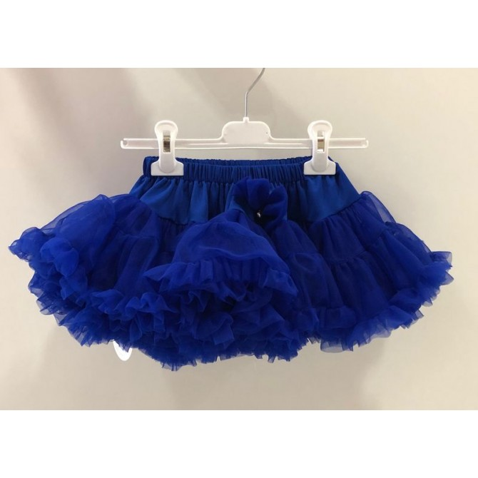 brand new 74d19 ca4ee gonna gonnellina volant tulle blu royal bluette les gamins ...
