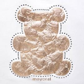 Maglietta orsetto oro Mayoral