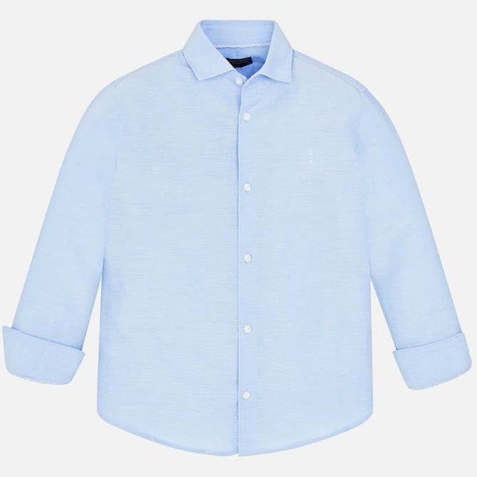 wholesale dealer e8397 bc77a camicia azurra camicia collo colletto manica lunga celeste ...