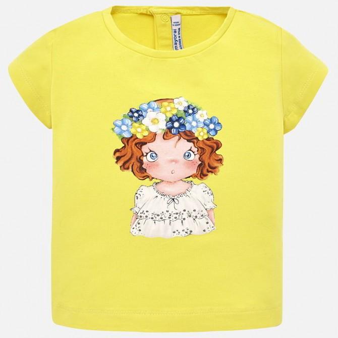 Corona Gialla Shirt Giallo Maglia Maglietta Bimba Floreale T qVSULzpjGM