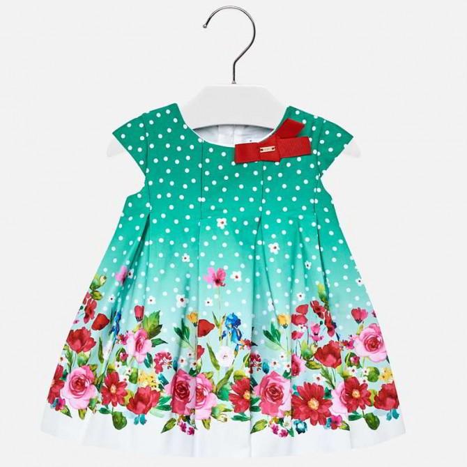 vestina verde pois fiori vestito fiorato abito fiori fiorellini ... 00097827edd