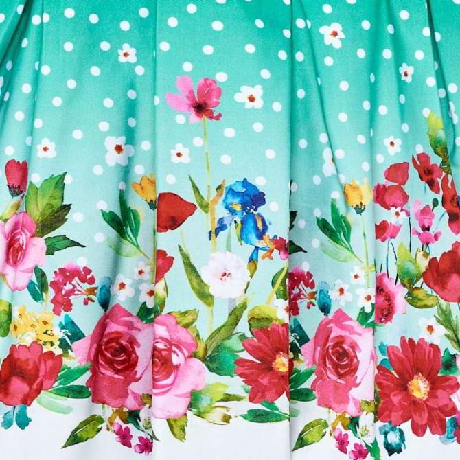 vestina verde pois fiori vestito fiorato abito fiori fiorellini abitino  vestitino elegante festa cerimonia mayoral neonata bimba bambina i piccoli  tesori ... 4561564ba19