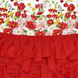 Vestito Tulle Rosso Mayoral