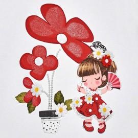 Vestito Fiore Rosso Mayoral