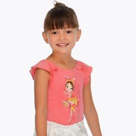 Maglietta corallo bambola Mayoral