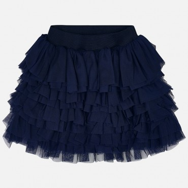Gonna volant tulle blu Mayoral
