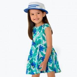 Vestito fiori azzurro Mayoral