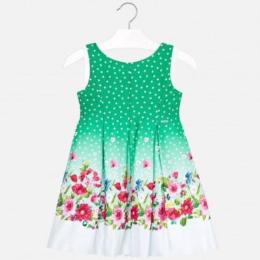 Vestito Verde Pois B/a Mayoral