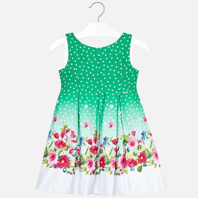 vestina verde pois fiori vestito abito abitino vestitino elegante ... 078160f15af