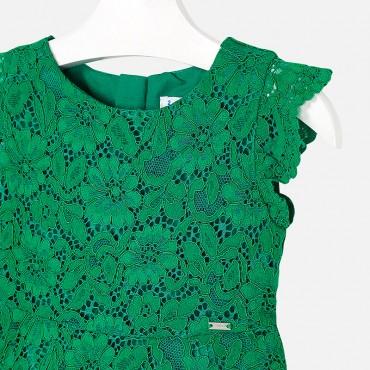 Vestito Pizzo Verde Mayoral