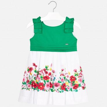 Vestito Fiori Verde Mayoral