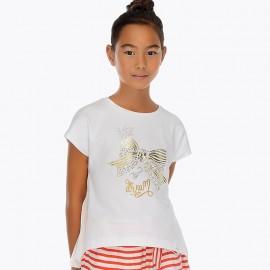 Maglietta con fiocco Strass Mayoral