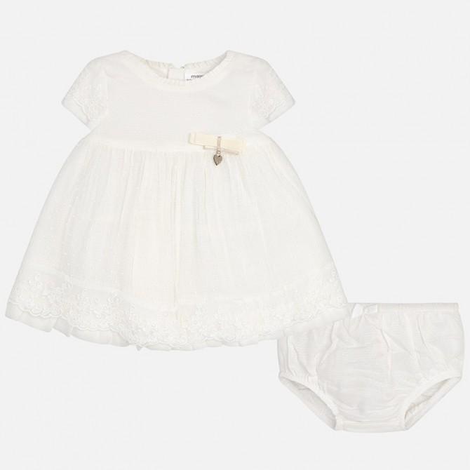 l'ultimo caratteristiche eccezionali seleziona per ufficiale vestina pizzo brillantini panna battesimo vestito abito ...