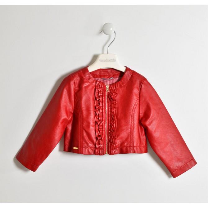 new style 31a0d 539e8 giubbino pelle rosso rossa giubbotto giubbinetto ecopelle ...