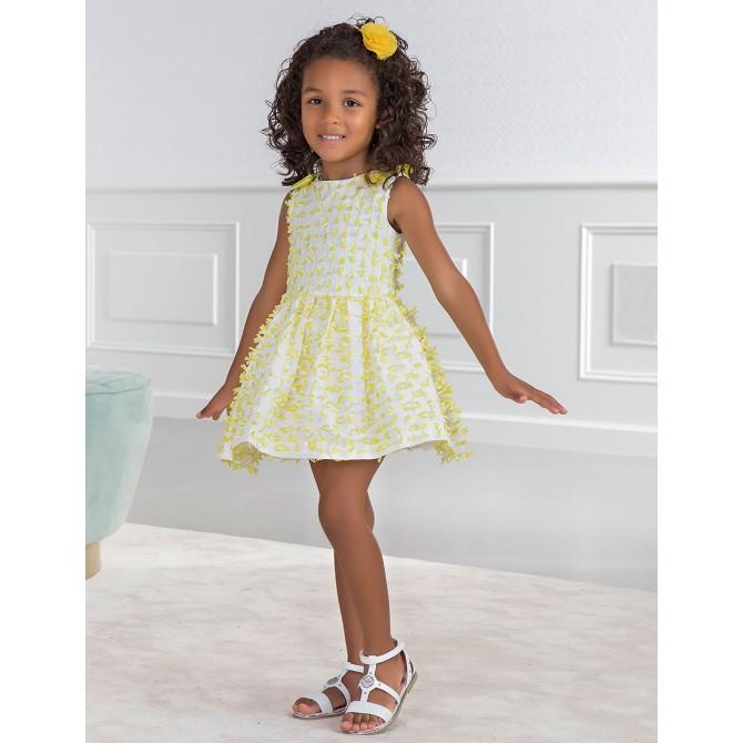 66c858cc2759 vestina vestito abito abitino vestitino giallo petali fiocchi ...