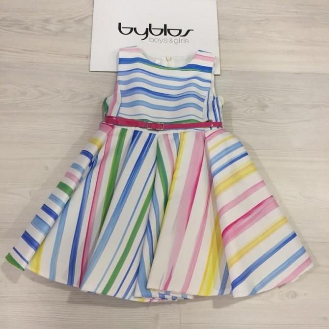 online store 687f8 7c243 vestina vestito abito abitino byblos righe colorate rosa ...