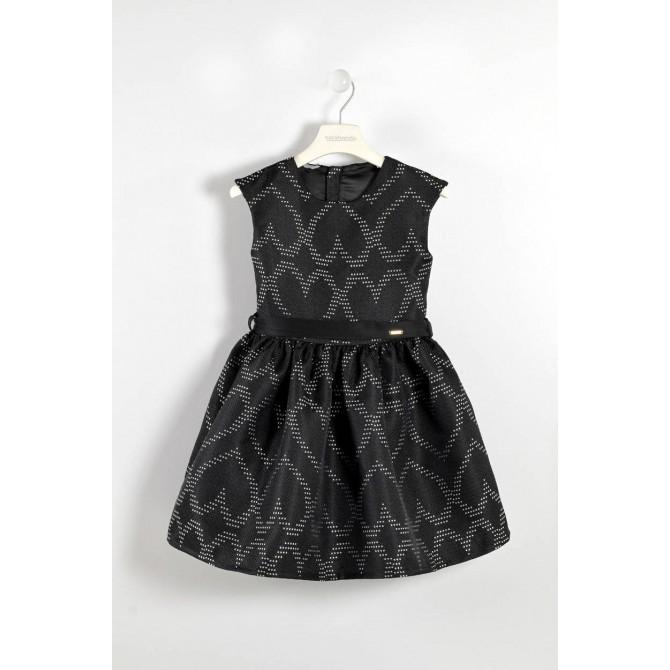 5a03e05ab3c3 vestina vestitino vestito nero cuori sarabanda bimba bambina ragazza ...