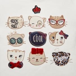 Compl.leggings gatti rosso Mayoral