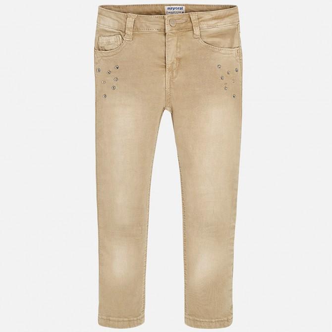 Jeans beige strass Mayoral