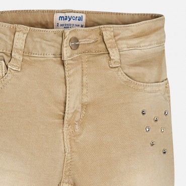 Jeans beige strass Mayoral