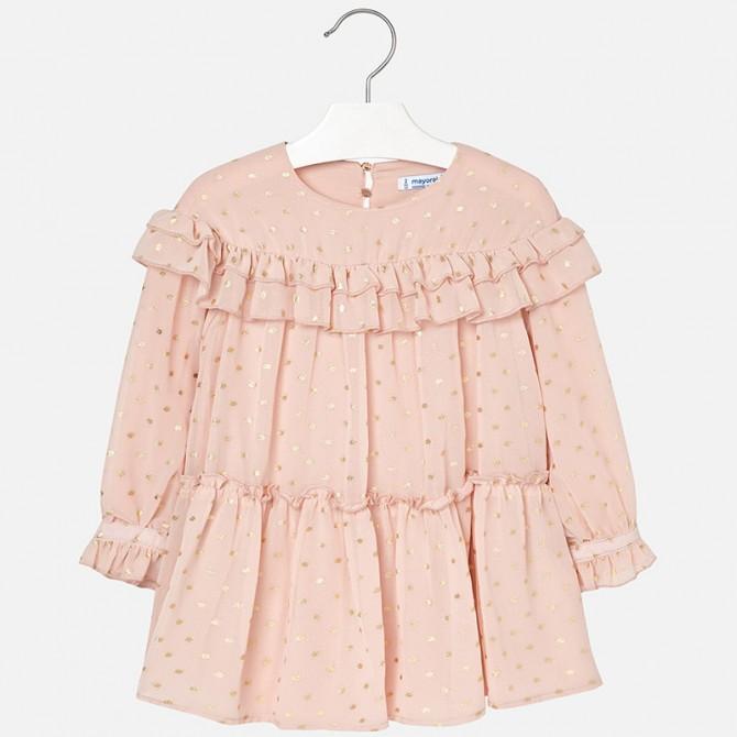 45c21570b592c vestina tulle rosa cipria vestito nudo garza abito abitino inverno ...