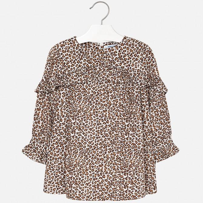 d53b02993533 vestito velluto stampato animalier leopardato tigrato marrone ...