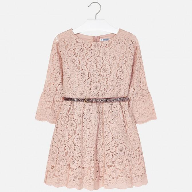 79919d941bba0 vestina pizzo rosa antico vestito fiori ricamati vestitino ricamato ...