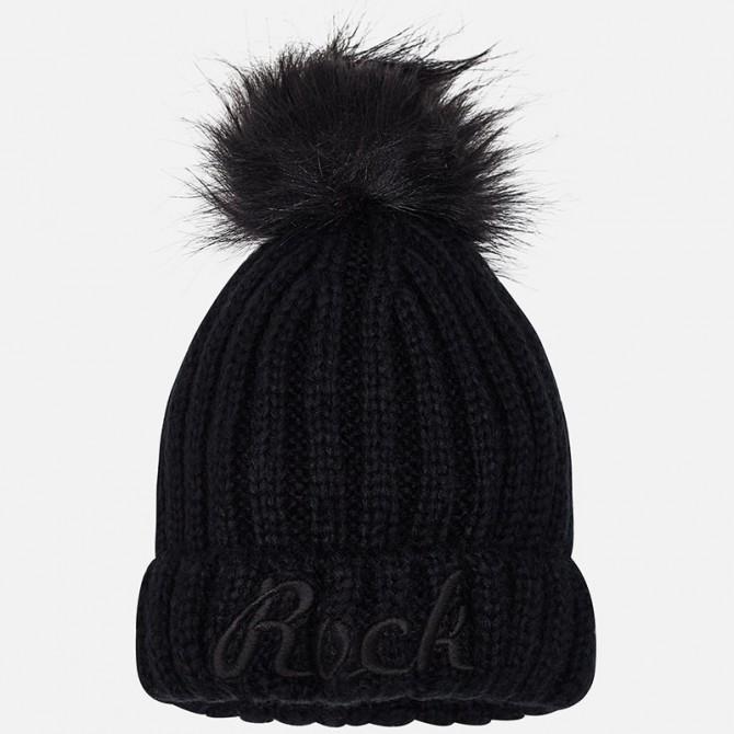 prezzo imbattibile molti alla moda tra qualche giorno cappello cappellino invernale nero mayoral ragazza bimba ...