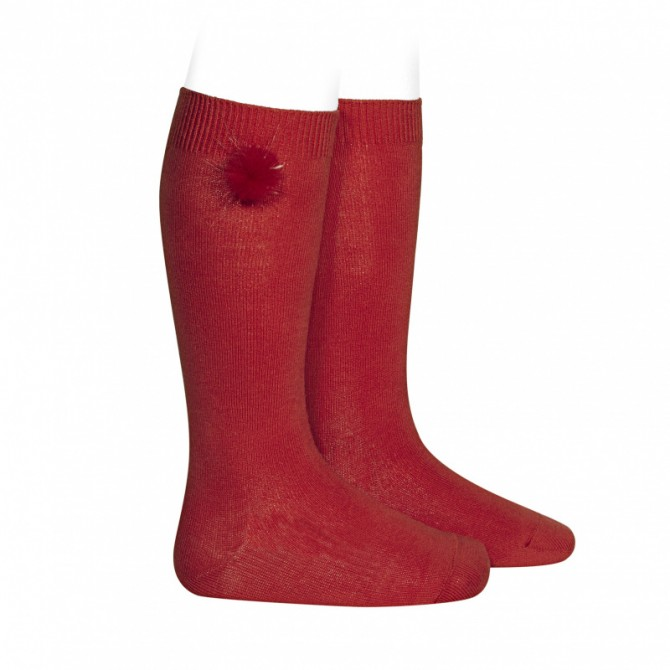 ampia scelta di colori e disegni tra qualche giorno forma elegante calza calzino calze calzini al ginocchio rosso rossa rossi ...